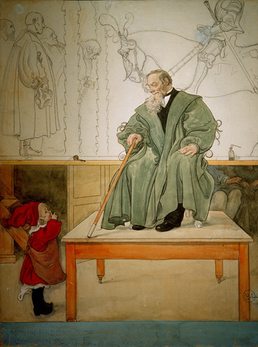 The artists father and son 1902 by Carl Larsson