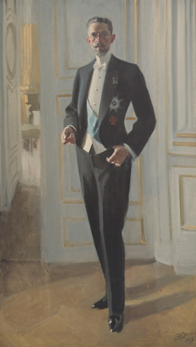 Gustav V, King of Sweden 1909 by Anders Leonard Zorn