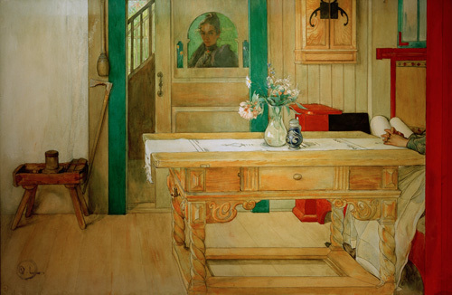 Sunday nap 1900 by Carl Larsson
