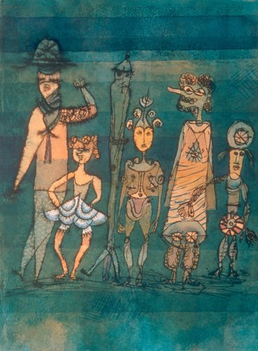 Masks 1923 by Paul Klee