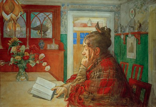 Karin reading 1904 by Carl Larsson