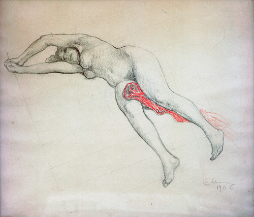 Reclining Female (Human nature) 1907 by Carl Larsson