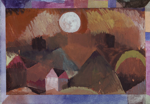 Landscape in Red with White Star 1917 by Paul Klee