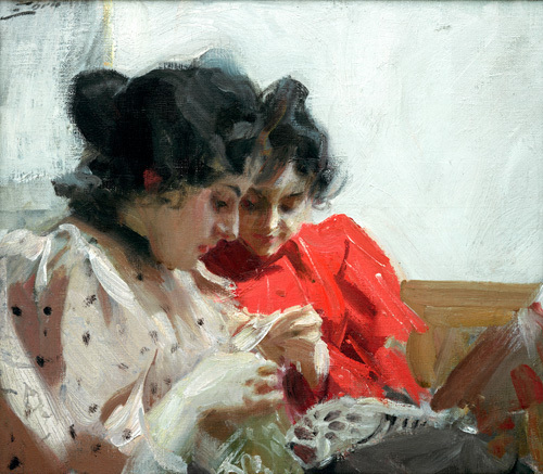 Lacy Seam 1894 by Anders Leonard Zorn