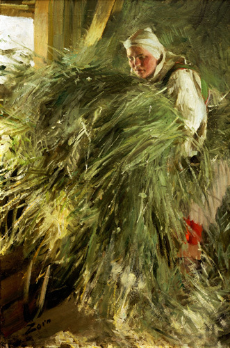 In the Hayloft 1892 by Anders Leonard Zorn