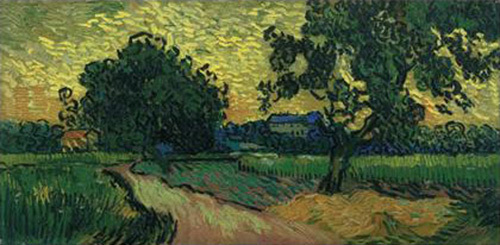 Landscape in the Twilight, 1890 by Vincent Van Gogh