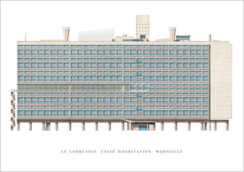Unite d'Habitation, Marseille by Le Corbusier