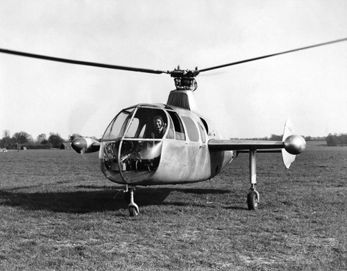 Vintage Helicopter by Anonymous