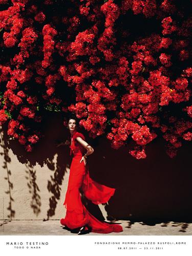 Daria Werbowy by Mario Testino