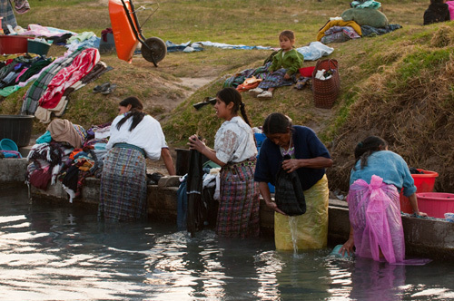 Public laundry washing facility, Totonicapan, Guatemala by Sergio Pitamitz