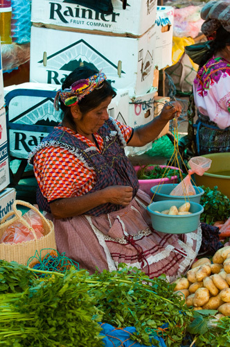 Market, Salcaja, Guatemala by Sergio Pitamitz