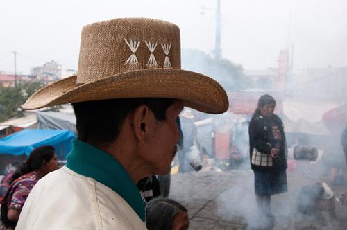 Mayan ritual at Santo Tomas church, Chichicastenango, Guatemala by Sergio Pitamitz