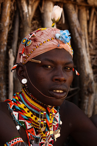 Samburu Tribesman, Loisaba Wilderness Conservancy, Laikipia, Kenya by Sergio Pitamitz