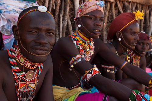 Samburu Tribesmen, Loisaba Wilderness Conservancy, Laikipia, Kenya by Sergio Pitamitz