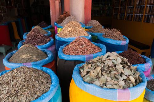 Spices, Medina Souk, Marrakech, Morocco by Sergio Pitamitz