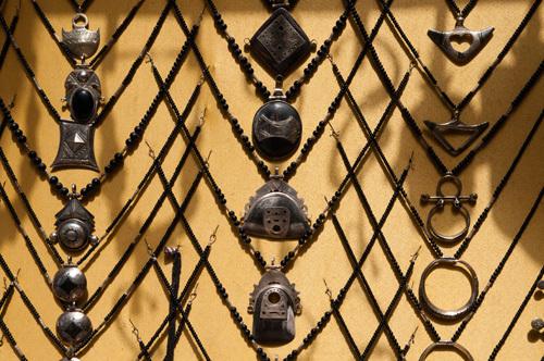 Jewellery on yellow, Medina Souk, Marrakech, Morocco by Sergio Pitamitz