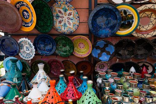 Ceramics, Medina Souk, Marrakech, Morocco by Sergio Pitamitz