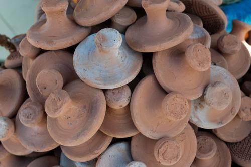 Pottery, Medina Souk, Marrakech, Morocco by Sergio Pitamitz