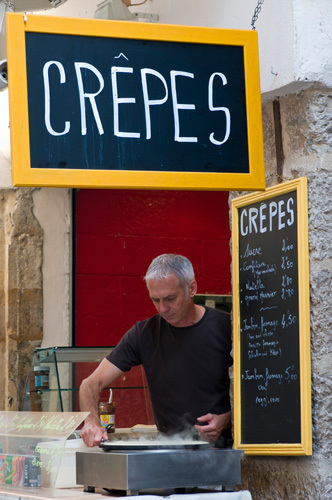 Crepes stand in Grasse, Provence, France by Sergio Pitamitz