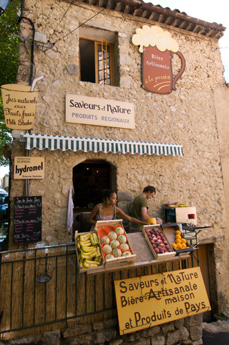 Regional food shop, Moustiers-Sainte-Marie, Provence, France by Sergio Pitamitz