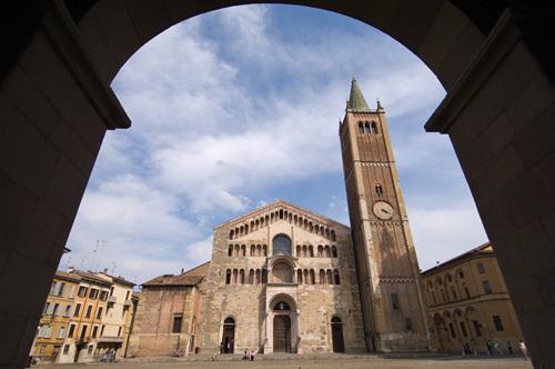 Duomo (Cathedral) and Baptistry, Parma, Emilia-Romagna, Italy by Sergio Pitamitz