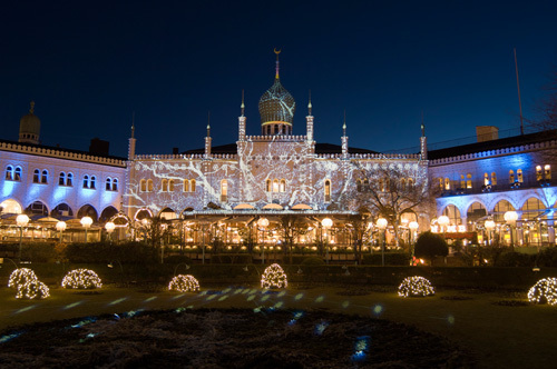 Tivoli at Christmas, Copenhagen, Denmark by Sergio Pitamitz