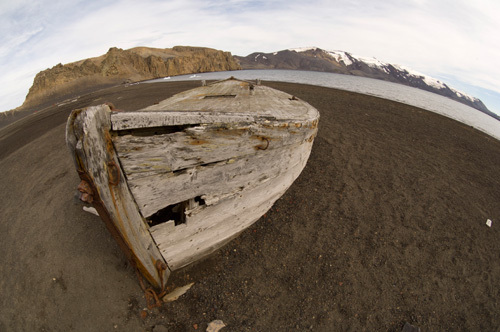 Old Whaling Boat, Telephone Bay, Deception Island, South Shetland Islands, Antarctica by Sergio Pitamitz