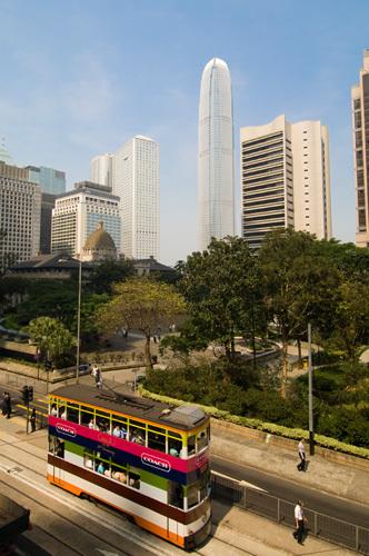 Queensway, Central District, Hong Kong, China by Sergio Pitamitz