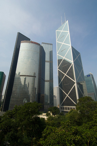 Asia Pacific Finance Tower and Bank of China Tower, Central District, Hong Kong, China by Sergio Pitamitz