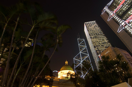 Statue Square, Central District, Hong Kong, China by Sergio Pitamitz