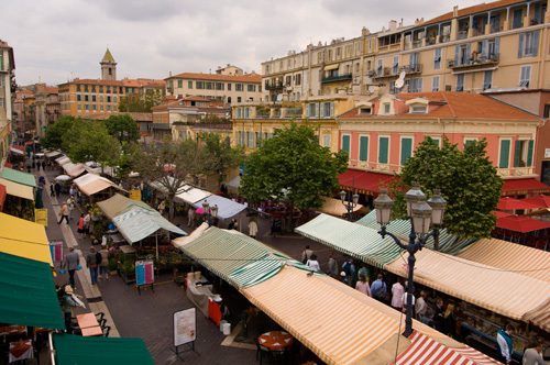 Marche aux Fleurs, Cours Saleya, Nice, French Riviera, France by Sergio Pitamitz