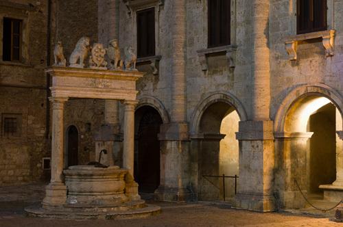 Palazzo Tarugi, Piazza Grande, Montepulciano, Val d'Orcia, Siena province, Tuscany, Italy by Sergio Pitamitz