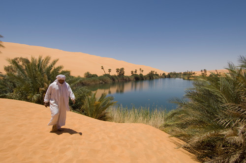 Umm El Ma lake, Erg Awbari, Sahara desert, Fezzan, Libya by Sergio Pitamitz