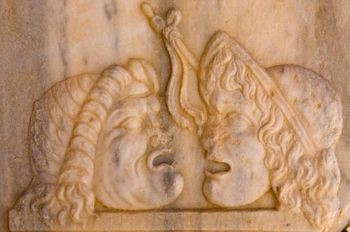 Relief at Roman Theatre, Sabratha Roman site, Tripolitania, Libya by Sergio Pitamitz