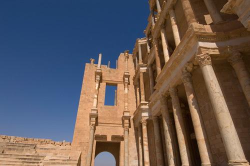 Roman Theatre, Sabratha Roman site, Tripolitania, Libya by Sergio Pitamitz