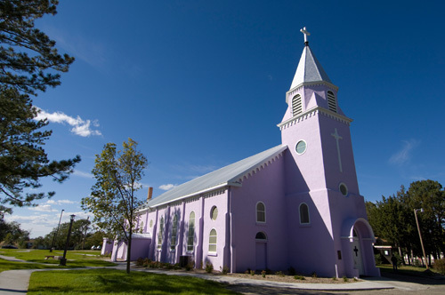 St Charles Borromeo church, Rosebud Indian Reservation, South Dakota, USA by Sergio Pitamitz
