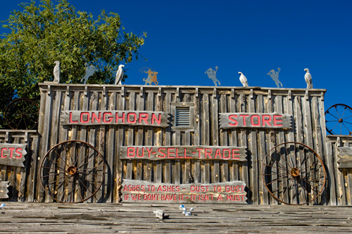 Shop sign, South Dakota, USA by Sergio Pitamitz
