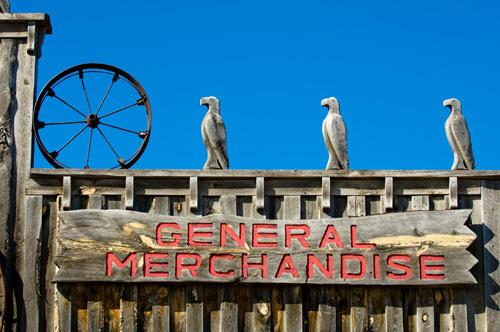 Shop sign, South Dakota, USA by Sergio Pitamitz