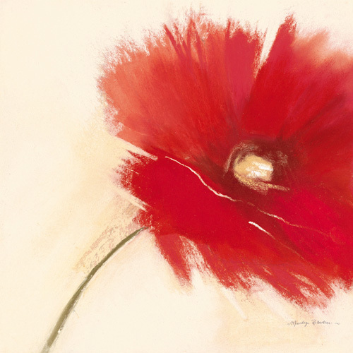 Red Poppy Power I by Marilyn Robertson