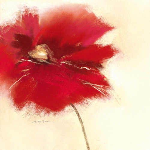 Red Poppy Power II by Marilyn Robertson