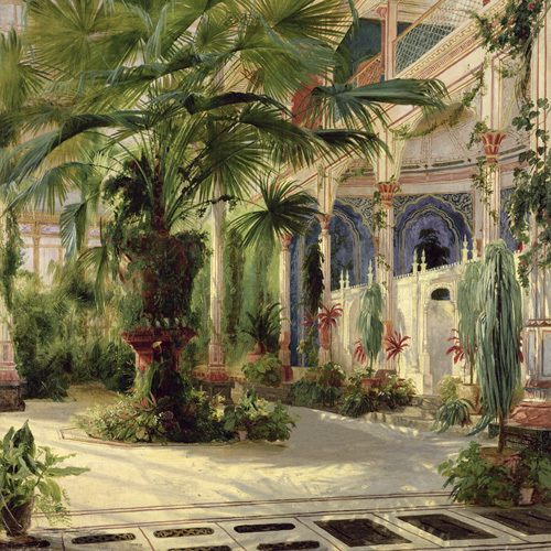 Interior of the Palm House at Potsdam I by Carl Blechen