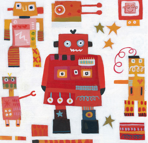 Red Robots by Anne Davies