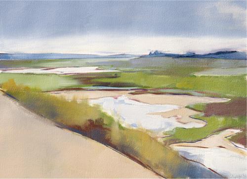 Coastal Fields by Charlotte Evans