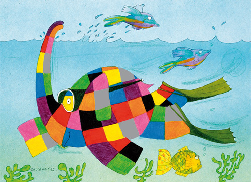 Elmer Snorkelling by David McKee