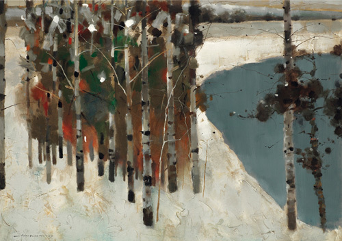 Birch Trees by Law Wai Hin