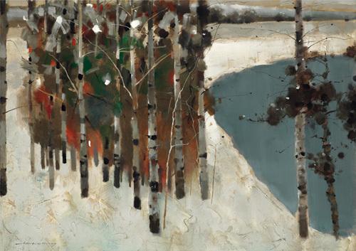 Birch Trees by Law Wai Hin