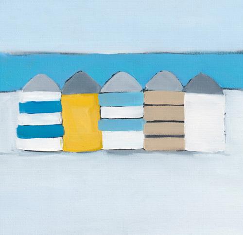 Summer Beach huts by Heidi Langridge