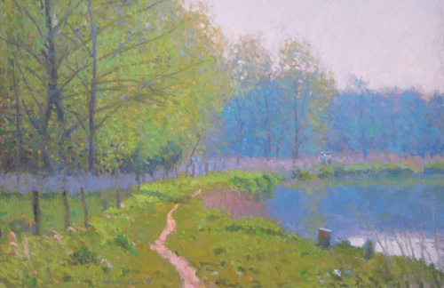The Wey at Sutton Place by Nicholas Verrall
