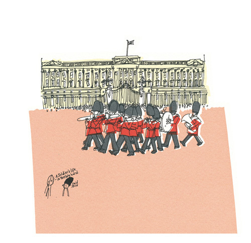 They're changing guard at Buckingham Palace II by Susie Brooks