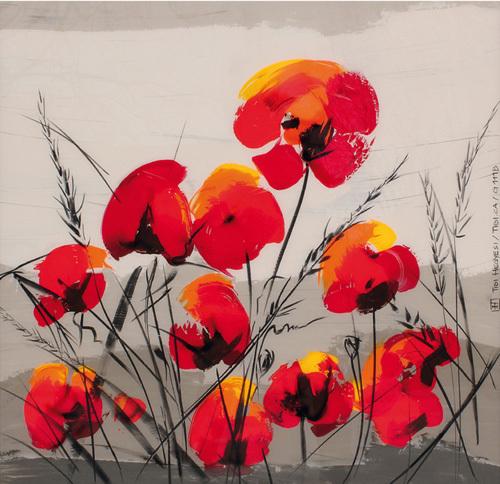 Multiple Poppies by Tibi Hegyesi